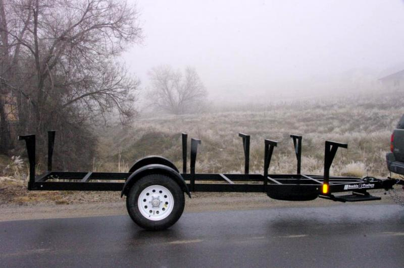 This single axle trailer is cutom built for Idaho Sheep Camp