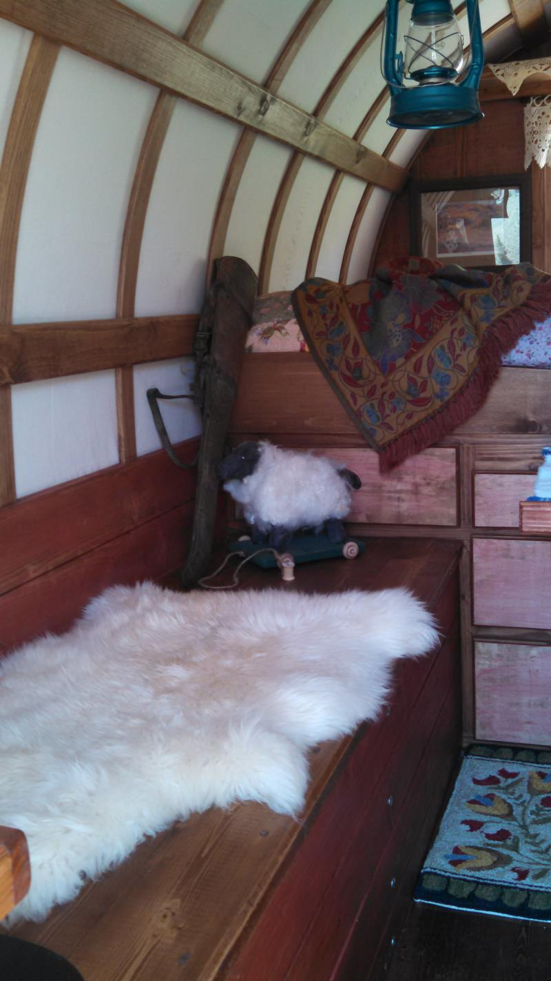 setting in one of our sheep wagons brings you back in time