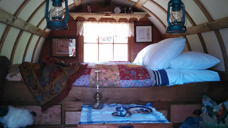sleeping in one of our sheep wagons is an awesome and relaxing night