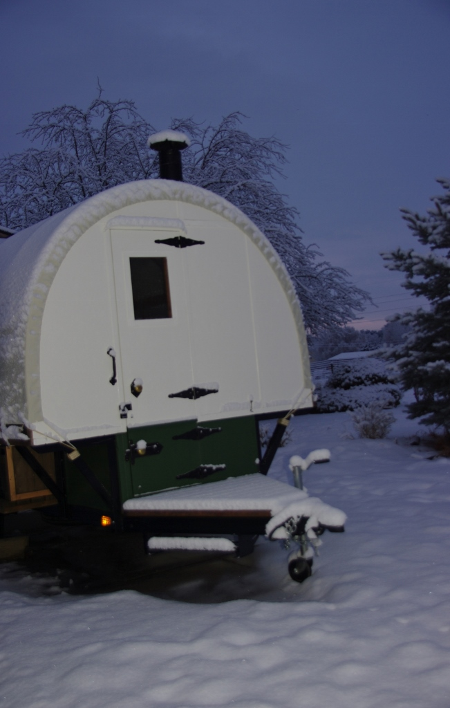 our freeway sheep wagons  travel in all weather