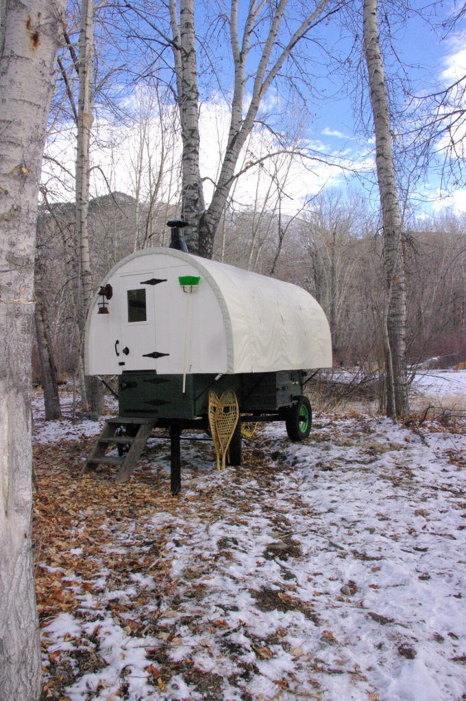 one of our tradtional sheep wagons located in beautiful setting-as a guest cabin