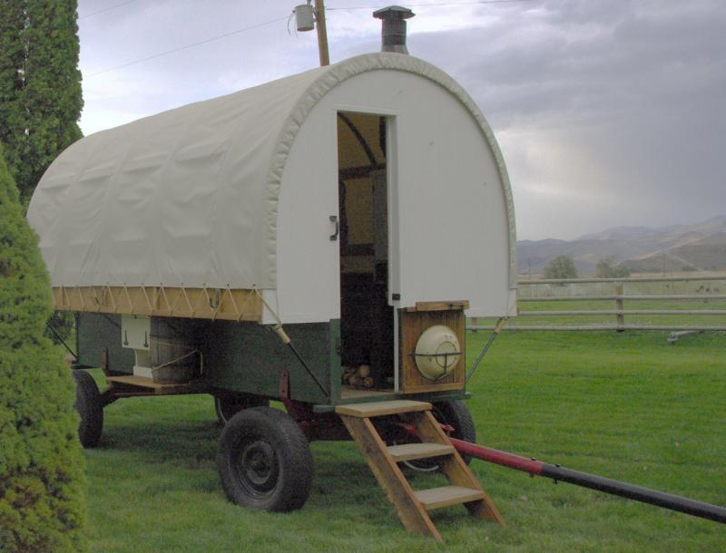 located at a ranch in Idaho gives this idaho sheep camp wagon on awesome setting