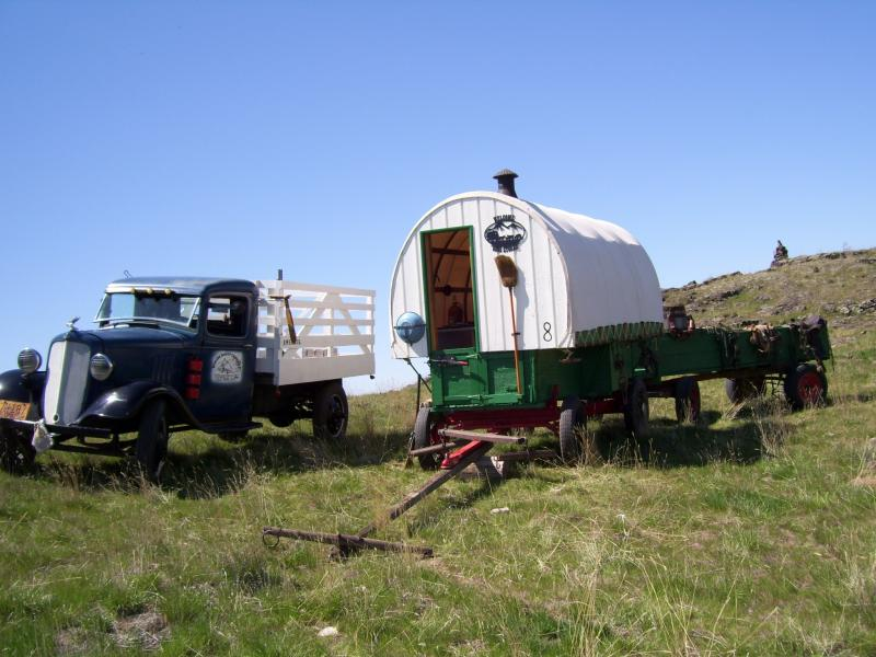 This Sheep Wagon Was restored by Basque Gentmen out of Gooding Idaho His familys