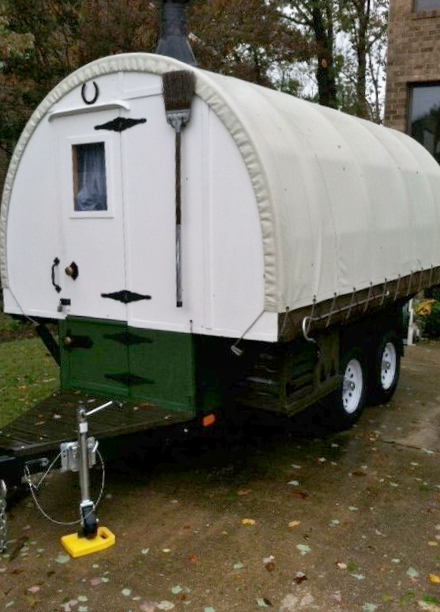 Mikes Sheep Wagon In Maryland during Huricane Sandy Oct. 2012