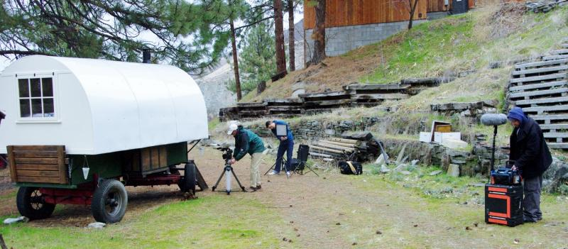 It takes time and preperation to film Sheep Wagons