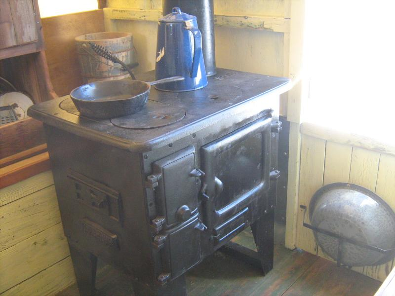 Idaho Sheep Camp Inc Cabinet built to look Like sheepherders Stove